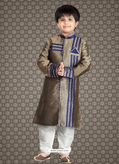 Buy Flattering Pink Art Silk Kurta For Eid Kids Salwar Kameez, Kids Kurta, Kurta Men, Churidar, Kurti, Kids Wear Boys, Boys Kurta Design, Boys Clothes Style, Pakistani Dress Design