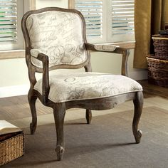 Furniture of America Vernon Arm Chair - Regal Print | from hayneedle.com