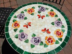 Mosaic Table Top by Kodamakitty, via Flickr