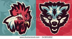 sports vector icons of animals