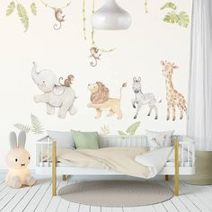 Good morning Monday, it's the start of another beautiful week and to start our feed off I had to post these gorgeous safari animal wall…