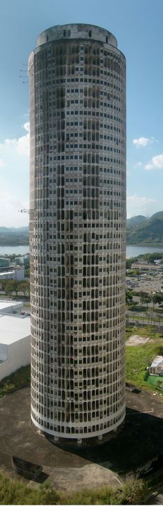 [GHOST TOWER]: BARRA DA TIJUCA | RIO DE JANEIRO | BRAZIL: *Built: 1960s (incomplete); Architect: Oscar Niemeyer*
