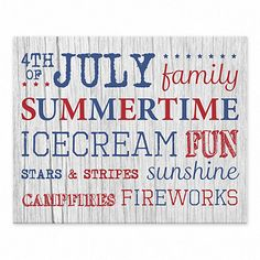 Express your pride in our great nation with this whimsical tabletop decoration. Our Fourth of July Fun Tabletop Canvas Art adds festive flair to any space. Fourth Of July Decor, 4th Of July Decorations, July 4th, Bossier City, Holly Springs, Cool Tables, Table Top Display, July Crafts, Memorial Day