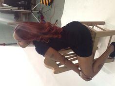 Malaysian Curly hair flat-ironed and dyed. www.DiamondRubyHair.com