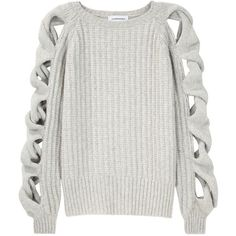 Julien Macdonald / Cable Sweater ($643) ❤ liked on Polyvore