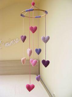 Tendências quartos de bebé: Corações    Nursery trends: hearts