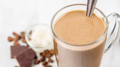 Start your day off right by adding a little kick to your morning coffee with a Vega One serving to make a coffee mocha shake. Coffee Protien Shake, Coffee Shake, Mocha Coffee, Hot Coffee, Vega Protein Recipes, Protein Smoothie Recipes, Juice Smoothie, Vegan Protein, Vega One