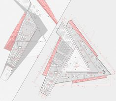 Gallery Meet the second place in the contest of the Museum of Memory and Human Rights in Concepción, Chile - 9 Library Architecture, Museum Architecture, School Architecture, Architecture Plan, Triangular Architecture, Triangle Building, Office Building Plans, Public Library Design, Archdaily Mexico