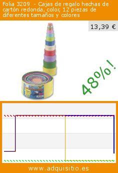 Folia 3209  - Cajas de regalo hechas de cartón redonda, color, 12 piezas de diferentes tamaños y colores (Juguete). Baja 48%! Precio actual 13,39 €, el precio anterior fue de 25,81 €. http://www.adquisitio.es/folia/3209-cajas-regalo-hechas