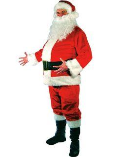 Santa Suit Plush Large Adult Costume Jacket Size 46-50 Best Reviews
