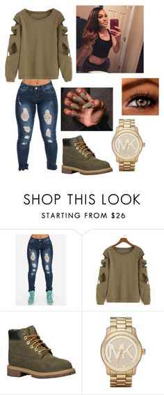 """Untitled #113"" by summertimefineeeeee ❤ liked on Polyvore featuring Timberland and Michael Kors"