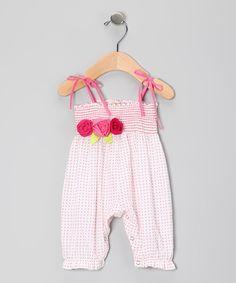 White & Watermelon Natasha Romper - Infant