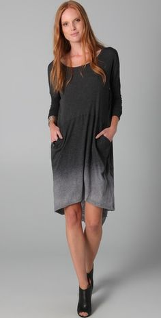 ombre dress with pockets