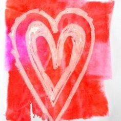 Bleeding Tissue Paper Valentines Hearts