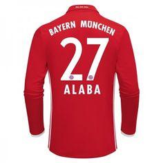 Bayern München 16-17 David #Alaba 27 Hemmatröja Långärmad,304,73KR,shirtshopservice@gmail.com
