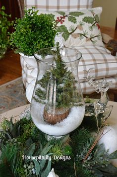 Woodland Winter Christmas Vignette 2013 by shirleystankus, via Flickr