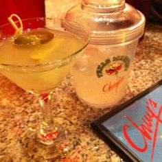 Chuy's spicy Texas Martini...it's called the Ne Mexican and it is good.