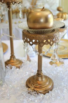 Use Candle Stick to Hold Desserts or Appetizers