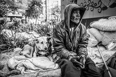 Moradores de rua e seus cães | IdeaFixa