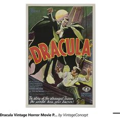 Dracula Vintage Horror Movie Poster (68 BRL) ❤ liked on Polyvore featuring home, home decor, wall art, vintage wall art, vintage home accessories, vintage movie posters, vintage posters and vintage film posters