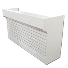 6' Ledgetop Counter with Slatwall Front : [White]