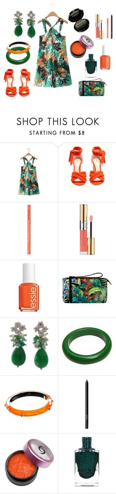 """""""Untitled #538"""" by siriusfunbysheila1954 ❤ liked on Polyvore featuring Nicholas Kirkwood, Too Faced Cosmetics, Yves Saint Laurent, Essie, Oasis, NOVICA, Alexis Bittar, NARS Cosmetics, COS and Armani Beauty"""