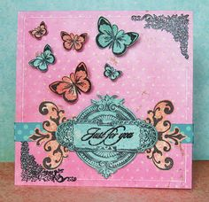 Vintage Double Dot paper and stamps! Fabulous card! @Carin McDonough #bobunny