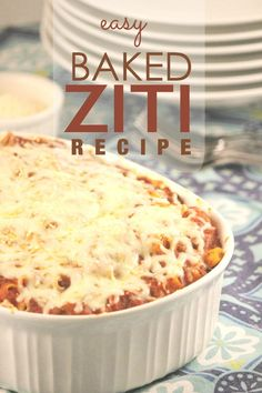 What's for dinner? Try this easy baked ziti recipe.