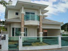 Fachadas de casas com vidro: incolor, verde, azul, fumê, espelhado!