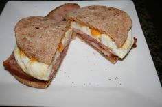 Breakfast! Castle Wood ham, egg whites and cheese on sandwich thin. Oh my word good! #MealsTogether