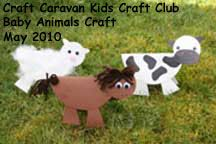 C is for Cow & H is for Hose.  barnyard animal crafts