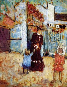 """bofransson: """"Madame Roussel and Her Children Edouard Vuillard - 1904 """" Edouard Vuillard, Paul Gauguin, Maurice Denis, Pierre Bonnard, Claude Monet, Felix Vallotton, Art Populaire, Art Moderne, Equine Art"""