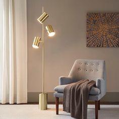 Gold Floor Lamp, Floor Lamp Shades, Arc Floor Lamps, Modern Floor Lamps, Corner Floor Lamp, Diy Floor Lamp, Modern Table, Modern Lighting, Lighting Design