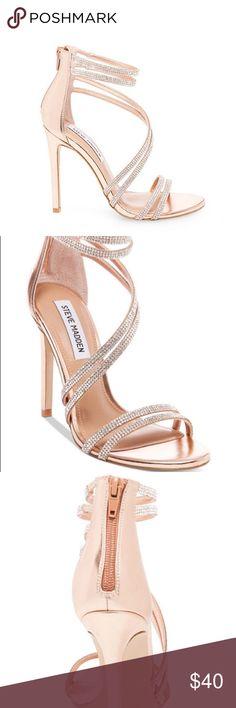 Steve Madden Rose Gold Heels size 6.5