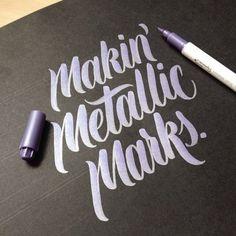 Typeverything.com Makin' Metallic Marks by hand-type.