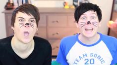 I love how dan looks more like a cat than phil.