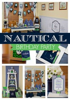 Come sail away with this fun Nautical Lighthouse Birthday Party - Pretty My Party #nautical #beach #ocean #lighthouse #birthday #party #partyplanning #partyideas