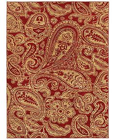 """Shaw Living Area Rug, American Abstracts Collection 02800 Verona Red 7'9"""" x 10'3"""" - 8 x 10 Rugs - Rugs - Macy's"""
