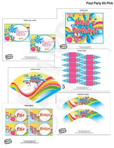 Pool Party Decorations, Summer Party Decorations, Pool Party, Pool Birthday Party, Swimming Party, Swim Party Decorations
