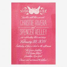 In Bloom Wedding Invitation from Love Vs Design