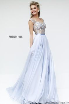 Sherri Hill Lace Top Dress 11151