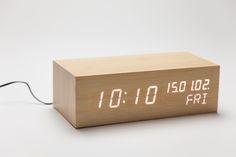 Relógio LED Branco Bambu | A Loja do Gato Preto | #alojadogatopreto | #shoponline