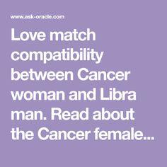 Male cancer female libra