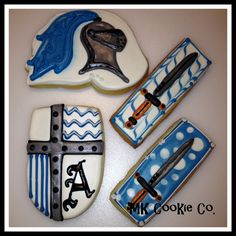 Knights theme cookies by MK Cookie Co. on Facebook