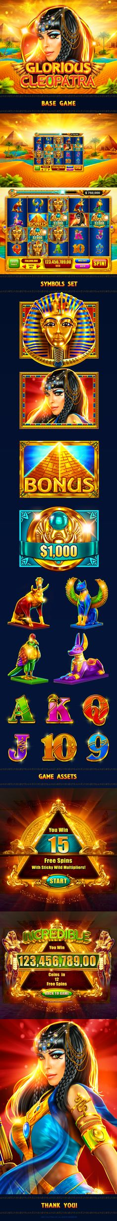 Art direction for slotomania slot - glorious cleopatra on behance Doubledown Casino, Casino Slot Games, Best Casino, Egypt Games, Point Hacks, Game Interface, Free Slots, Game Icon, Game Concept