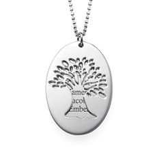 Cut Out Tree of Life Necklace with Engraving | MyNameNecklace