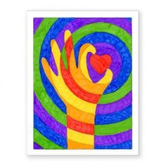 Warm Hands with a Heart · Art Projects for Kids. This color lesson project is a study in warm, cool and complementary colors in a fun format. Hand Art Kids, Art For Kids, Easy Art Projects, Projects For Kids, Ecole Art, Heart Art, Simple Art, Art Activities, Teaching Art
