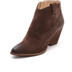 Frye Reina Booties - Dark Brown