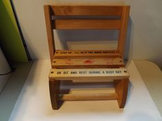 Wooden Childrens Combination Step Stool And Chair
