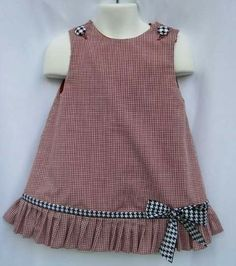 Gingham Alabama Ruffle Dress with Houndstooth Trim and Applique Game Day! Gingham Alabama Ruffle Dress with Houndstooth Trim and Applique Frocks For Girls, Kids Frocks, Dresses Kids Girl, Kids Outfits, Children Dress, Children Clothes, Babies Clothes, Dress Girl, Toddler Outfits
